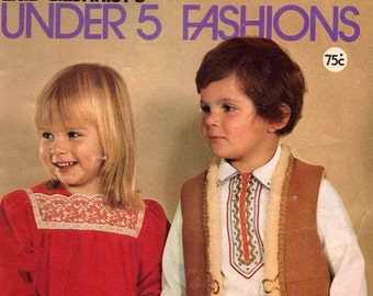1970s Childrens Sewing Pattern Drafting Book Enid Gilchrist Under 5 Fashions Original Vintage Patterns Size 1 2 3 4 5 Kids Clothes to Make