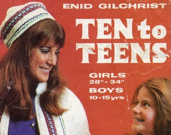 Enid Gilchrist 10 - 15 Years Kids Teens Sewing Pattern Drafting Book Vintage 1970s 36 patterns Dresses Swimsuits Pajamas Knickers Coats etc