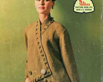 Patons 696 Vintage 1960s Womens & Mens Knitting Patterns Booklets ORIGINALS not PDF