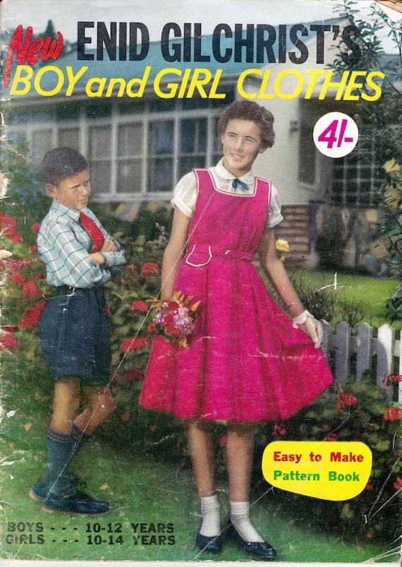 50er Jahre Vintage Muster Ausarbeitung Buch jungen Mädchen | Etsy