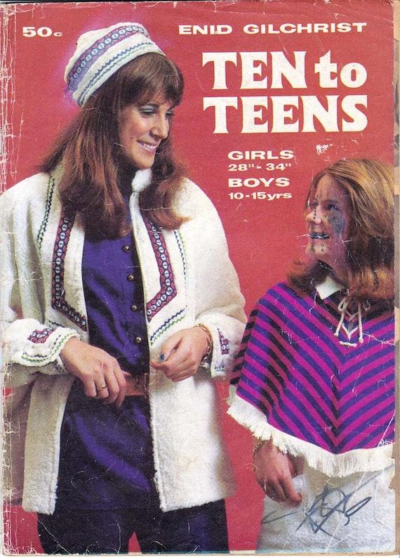 70er Jahre Kinder Jugendliche Nahen Muster Ausarbeitung Buch Etsy