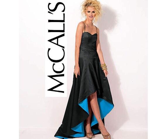 McCall 6701 Womens hoch niedrigen Saum Prom Knochen Mieder