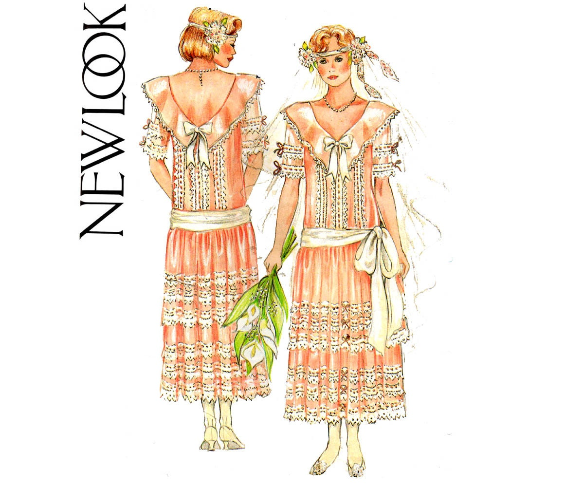 New Look 6361 Womens Flapper Style Dress or Wedding Gown ...
