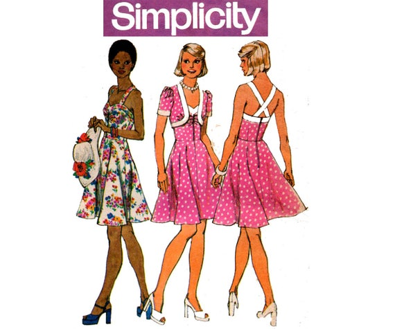 Free UK P/&P Butterick Ladies Easy Sewing Pattern 6388 Tops Wais... Dress