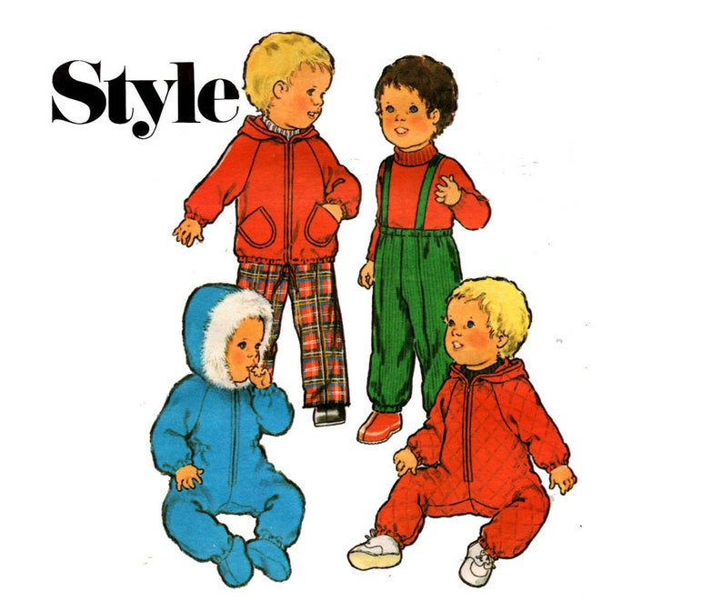 ae94f9554564 Style 2476 Toddlers Snowsuit Parka   Ski Pants 70s Vintage