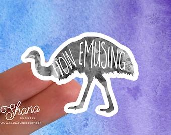 ebn267 Details about  /Emu Ostrich Multiple Color /& Sizes Vinyl Decal Sticker