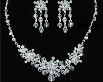 SALE! Bridal Jewelry Set Crystal and Rhinestones