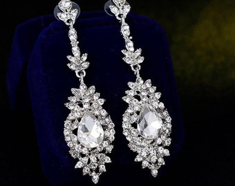 Sale! Bridal Earrings Crystal Rhinestone