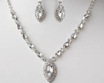 Bridal Jewelry Set, Bridesmaid Jewelry set, Crystal jewelry set