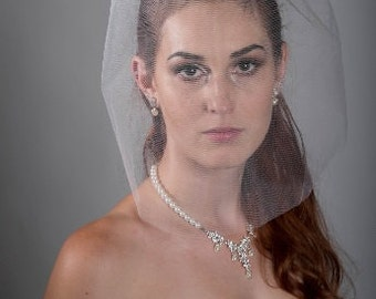 "SALE for 15"" Tulle Veil  ivory or white"