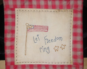 Mini Quilt - Let Freedom Ring