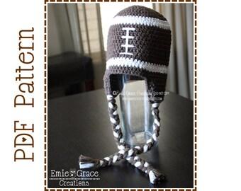 Crochet Football Hat  Pattern, 8 Sizes from Newborn to Adult, FOOTBALL - pdf 306