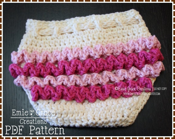 Diaper Cover Crochet Pattern Ruffle Buns Lily Pdf 709 Etsy
