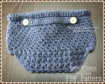 Crochet Diaper Cover Pattern, 3 Sizes, HAMILTON - pdf 715