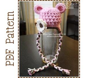 Crochet Bear Hat Pattern, Chunky Ear Flap, MONA and OTHELLO BEAR - pdf 117