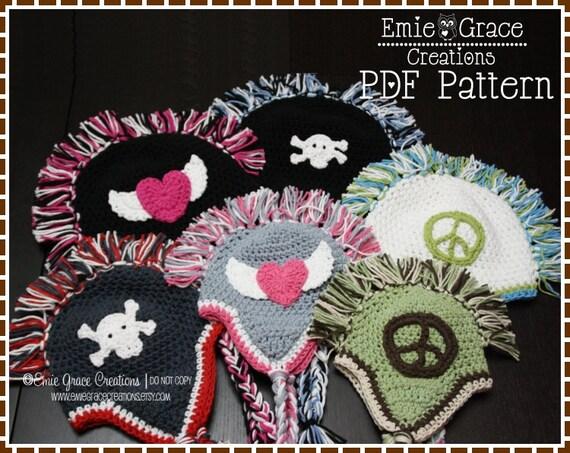 Crochet Mohawk Hat Pattern Ear Flap Maddox Pdf 302