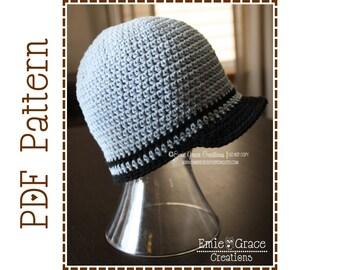 Newsboy Hat Crochet Pattern - TYLER - 404
