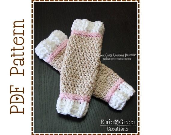 Crochet Sock Monkey Leg Warmers Pattern Classic 7 Sizes Etsy