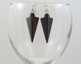 Hematite Earrings Gray Hematite Gemstone Earrings Hematite Sterling Silver Earrings Hematite Drop Earrings Silver Hematite Drops