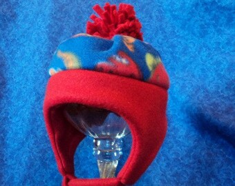 96886c16d0b Fleece Baby Boy Hats with Dinosaurs Winter and Warm 12-18 months