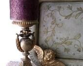 Vintage Folk Art Metal Tray. Florentine Style French Shabby Chic. Serving Tray. Home Decor
