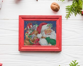 Cross Stitch Pattern, Santa Claus, Christmas, Counted Cross Stitch, PDF, Instant Download, Santa, Printable, Embroidery, Cross Stitch, Xmas