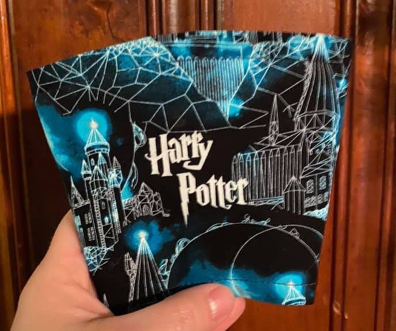 Harry Potter Inspired Coffee Cozie Koozie Aluminum Insulated image 0