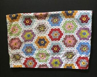 Vtg Pillowcase - Patchwork Design