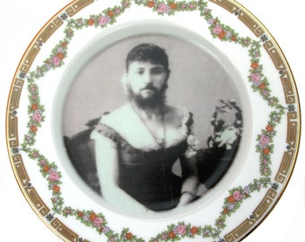 """The Bearded Lady Plate 6.15"""""""
