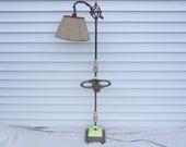 Vintage 1930 39 s Bridge Arm Floor Lamp Smoking Stand