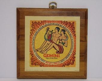 Vintage 1960's  Gemini Plaque