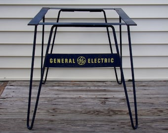 Vintage 1950's   General Electric Industrial Table Base/Stand  Pick Up Only!!