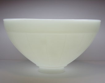 Vintage 1950's/1960's  White Glass Torchiere Shade/Diffuser