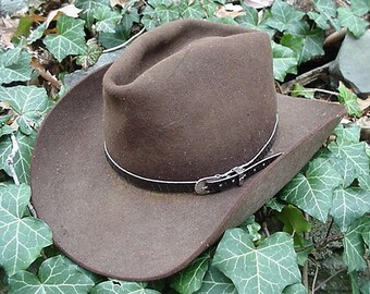 95fbcf9681f WESTERN HATBAND Hat Band BLACK Snake Skin w 3 Pc Buckle