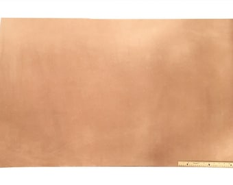 Leather Side Piece Veg Tan Split Medium Weight 30 X 48 Inches, 10 Square Feet