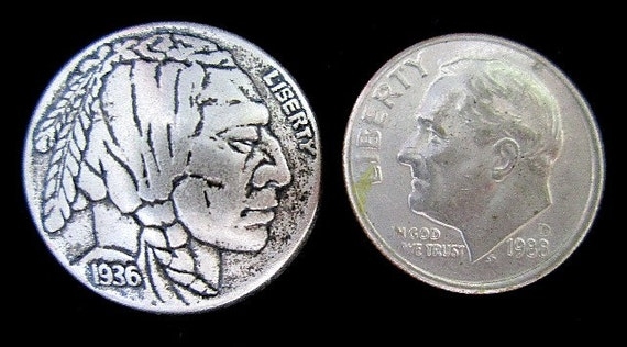 Indian Head Buttons Concho Ornament 15MM Metal 8 Piece Set