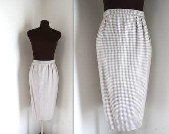 Pencil Skirt / Jaeger Skirt / 1970s Skirt (s)