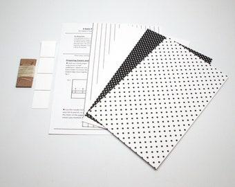 DIY Kit 3 Hole Pamphlet Stitch Black and White #3