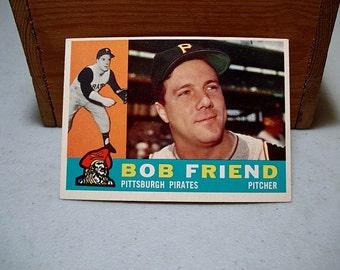 Bob Friend Baseball Etsy