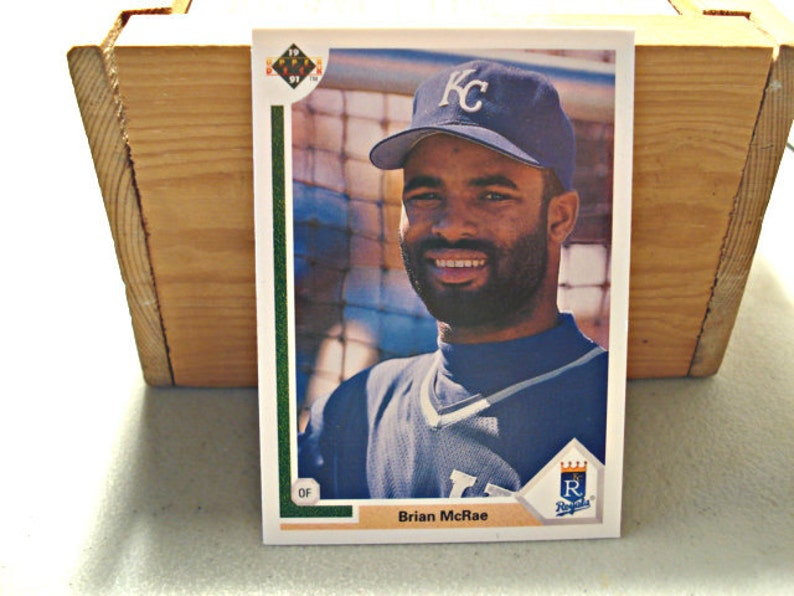 Brain Mcrea Baseball Card Vintage Card Mlb Upperdeck Vintage Baseball Royals Card Rookie Card