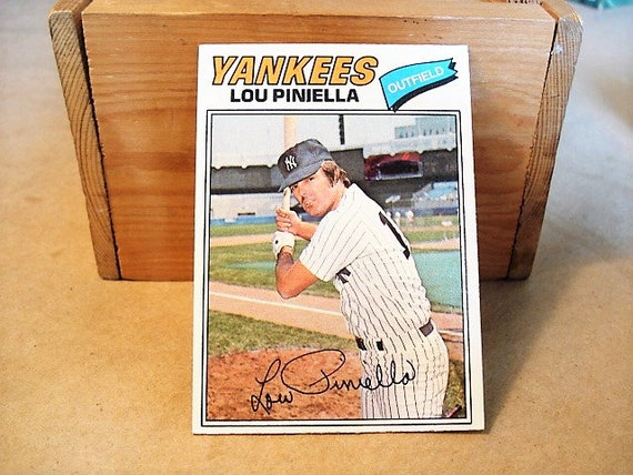 Lou Piniella Baseball Card Yankees Ny Yankees Card Mlb Card Baseball Sports Card Kc Royals Manager For Dad Pin Stripes Yanks