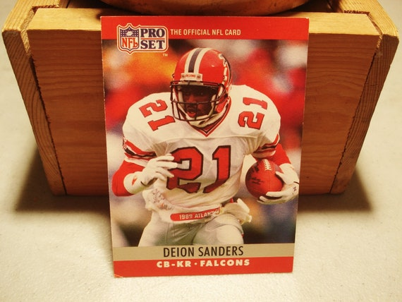Deion Sanders Rookie Card Football Card Sports Card Vintage Nfl Atlanta Falcons Hall Of Fame Nfl Noles Pro Football Fathers Day