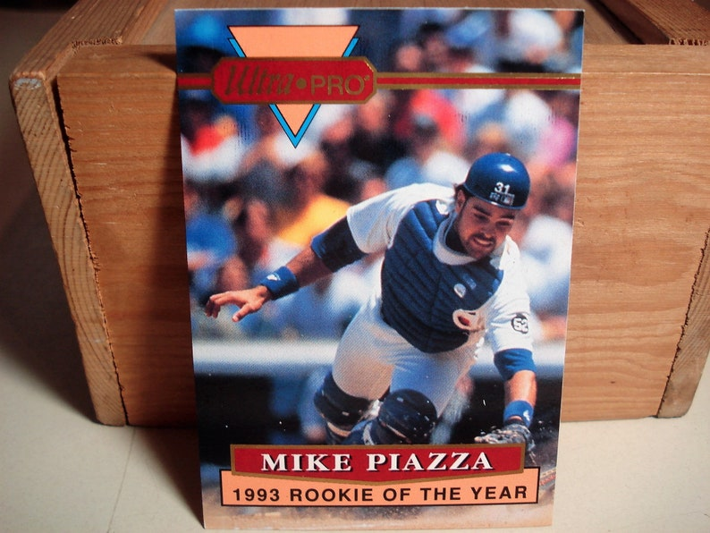 Mike Piazza Piazza Card Piazza Ultra Pro Baseball Card Dodgers Hall Of Famer Catcher Sports Mlb Card Sports Collectible Rookie