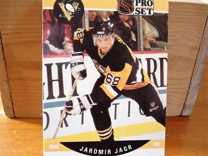 Jeromir Jagr Penguins Card Stanley Cup Jeromir Jagr Card Nhl Hockey Card Rookie Card Jagr Rookie Right Winger All Time Hockey