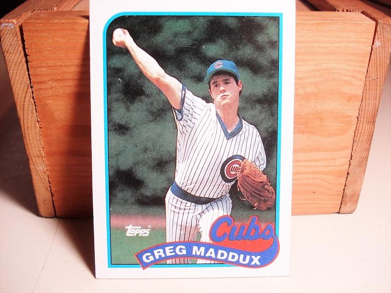 Greg Maddux Baseball Card Maddux Card Baseball Collectible Cubs Maddux Hall Of Famer Pitcher Mlb Card Vintage Baseball Topps Card