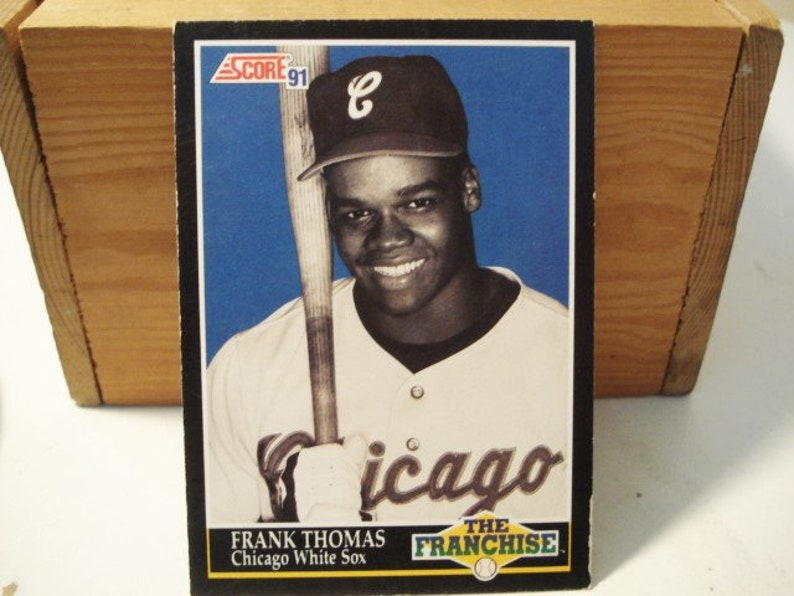 Frank Thomas Score Baseball 1991 Fleer Hall Of Fame Mlb Card White Sox White Sox Card 500 Homeruns Collectibles Baseball Card Mlb