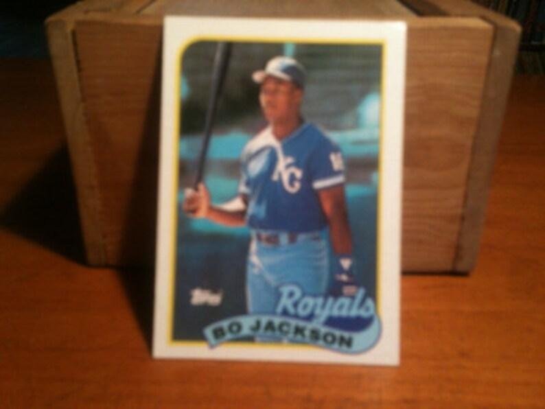 Vintage Bo Jackson Topps Baseball Card Kansas City Royals Mlb