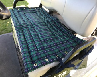 Plaid Golf Cart Seat Cover a Fashionable, Functional Accessory to Any Golf Cart,  Seat Cover Makes a Terrific Gift for Your Favorite Golfer