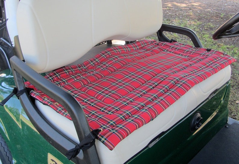 Plaid Golf Cart Seat Cover a Fashionable Functional ...