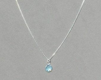 March birthstone etsy march birthstone swarovski aquamarine drop necklace aloadofball Choice Image